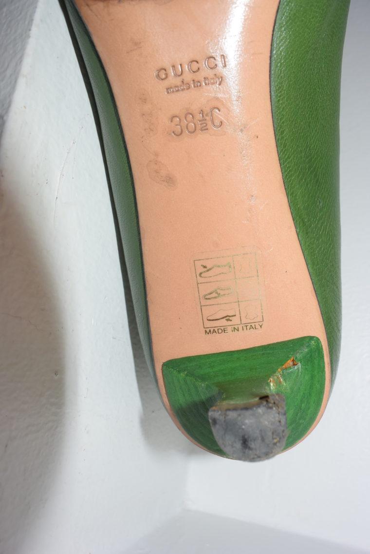Gucci Schuhe Pumps grün 38 1/2-6962