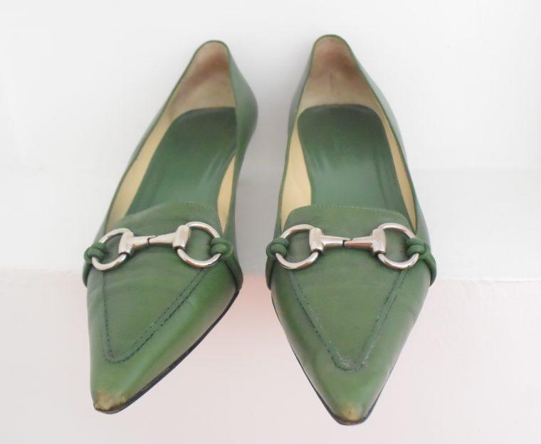 Gucci Schuhe Pumps grün 38 1/2-6965