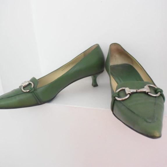 Gucci Schuhe Pumps grün 38 1/2