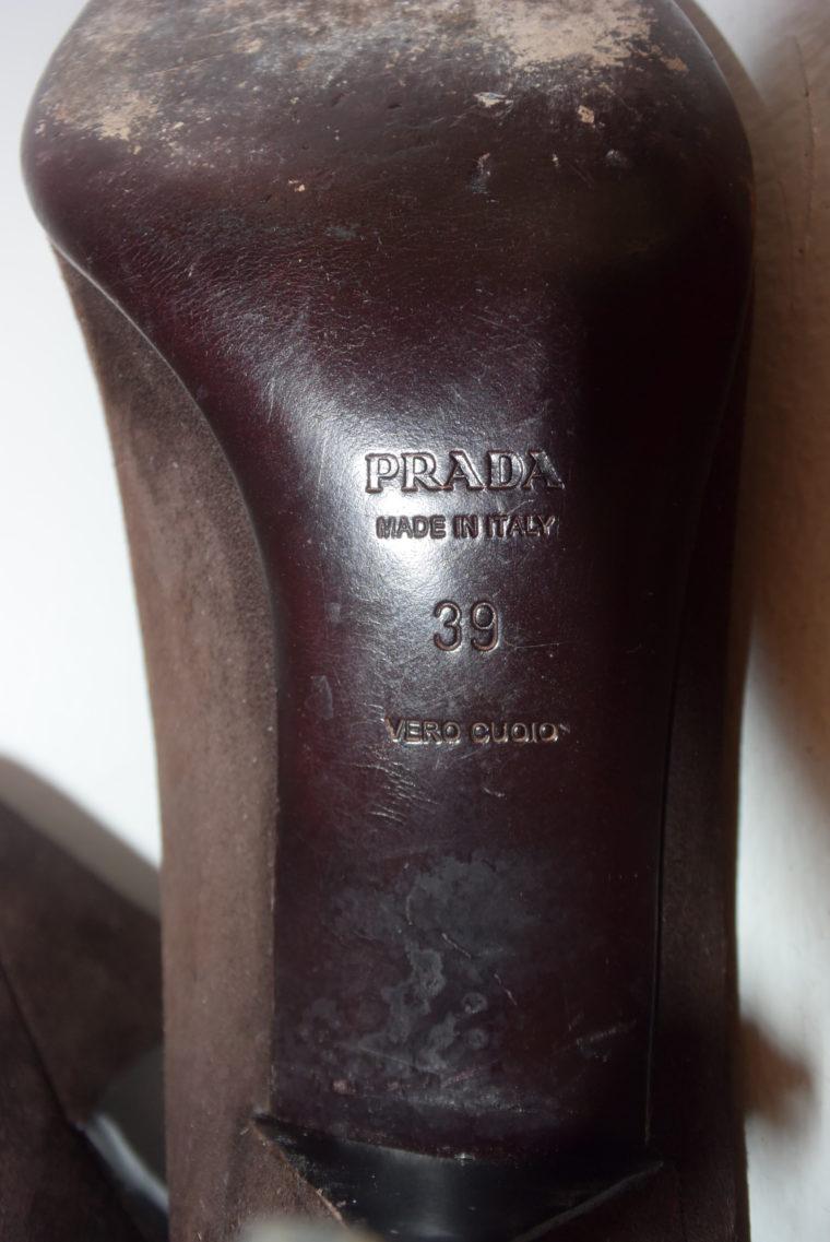 Prada Pumps Wildleder braun 39-6971