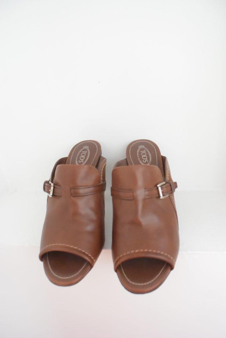 Tods Schuhe Pumps Leder braun 39 1/2-6987