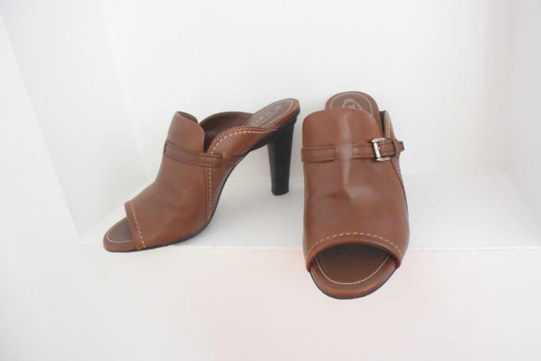 Tods Schuhe Pumps Leder braun 39 1/2-6992