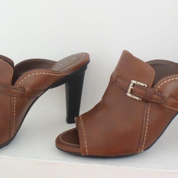 Tods Schuhe Pumps Leder braun 39 1/2