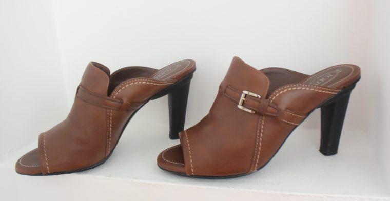 Tods Schuhe Pumps Leder braun 39 1/2-0