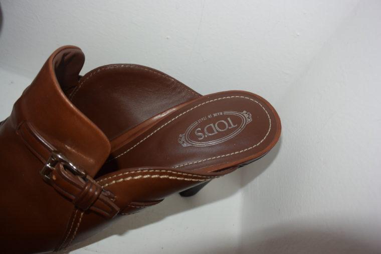 Tods Schuhe Pumps Leder braun 39 1/2-6988