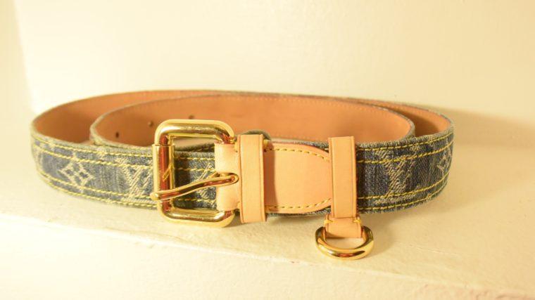 Louis Vuitton Gürtel Denim 100cm-7446
