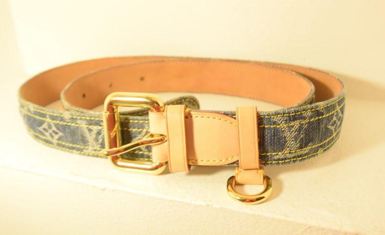 Louis Vuitton Gürtel Denim 100cm-7445