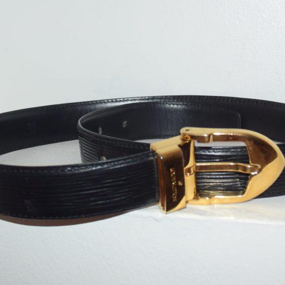 Louis Vuitton Gürtel Epileder schwarz 85cm