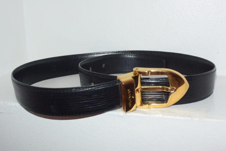 Louis Vuitton Gürtel Epileder schwarz 85cm-0