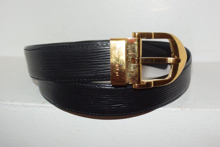 Louis Vuitton Gürtel Epileder schwarz 85cm-7594
