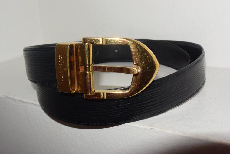 Louis Vuitton Gürtel Epileder schwarz 85cm-7595
