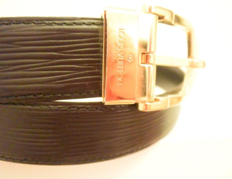 Louis Vuitton Gürtel Epileder schwarz 85cm-7593