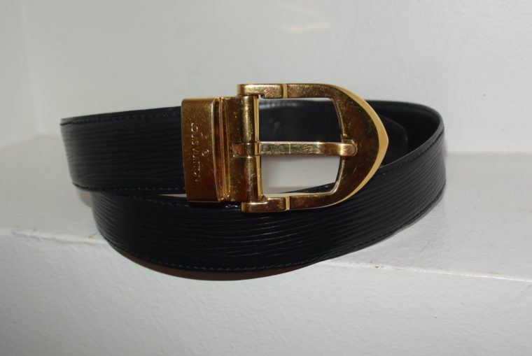 Louis Vuitton Gürtel Epileder schwarz 85cm-7601