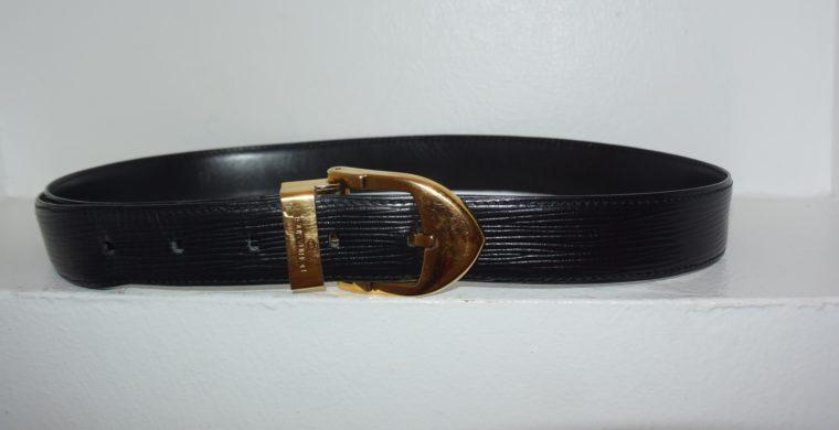 Louis Vuitton Gürtel Epileder schwarz 85cm-7600