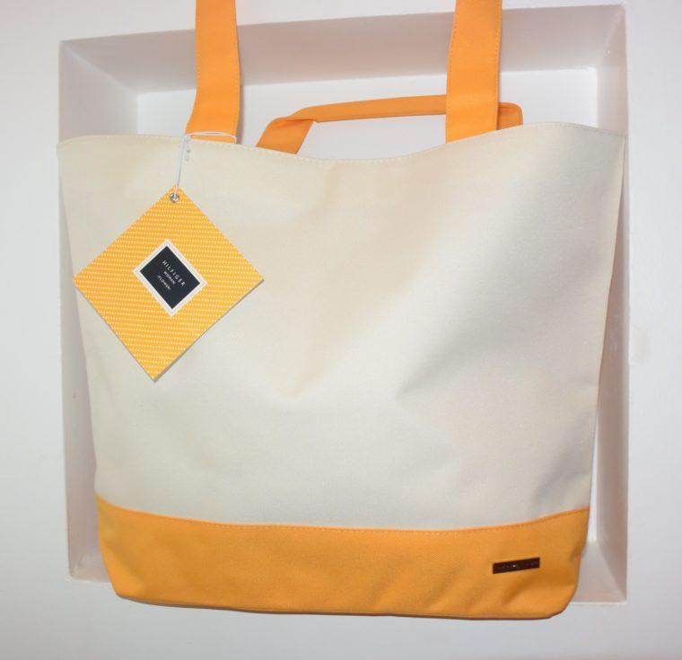 NEU große Tommy Hilfiger Tasche gelb/weiß-7659