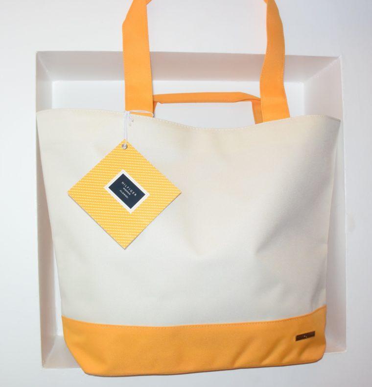 NEU große Tommy Hilfiger Tasche gelb/weiß-7663