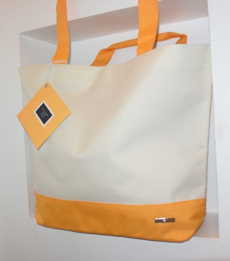 NEU große Tommy Hilfiger Tasche gelb/weiß-7658