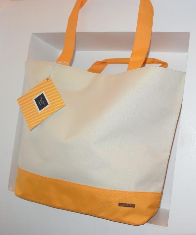NEU große Tommy Hilfiger Tasche gelb/weiß-7664