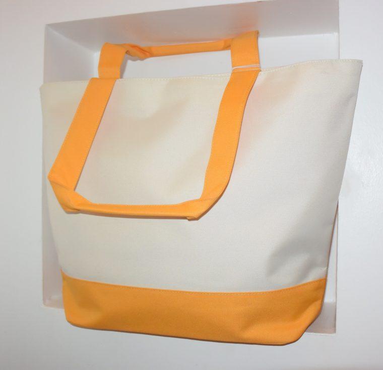 NEU große Tommy Hilfiger Tasche gelb/weiß-0