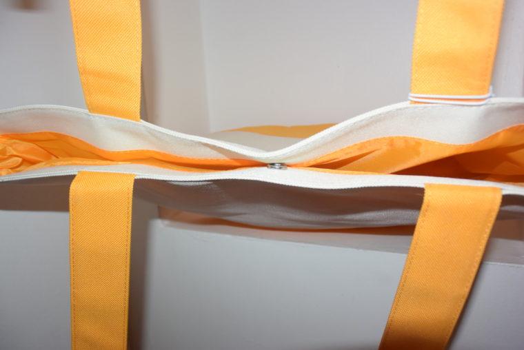 NEU große Tommy Hilfiger Tasche gelb/weiß-7662