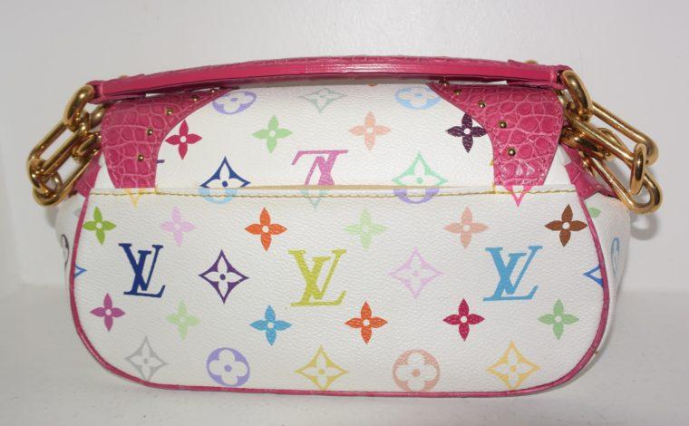 Louis Vuitton Tasche Marilyn Multicolor weiß Krokodilleder-7687