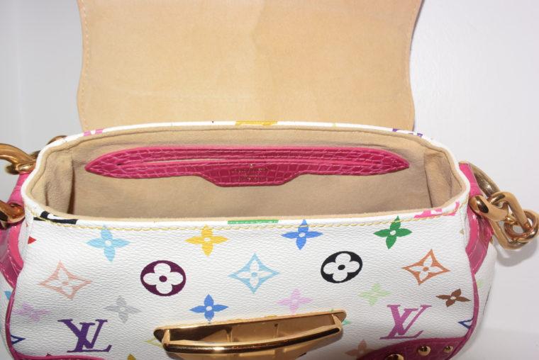 Louis Vuitton Tasche Marilyn Multicolor weiß Krokodilleder-7696
