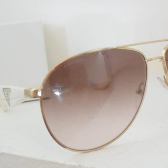 Prada Sonnenbrille Pilotenbrille gold / weiß