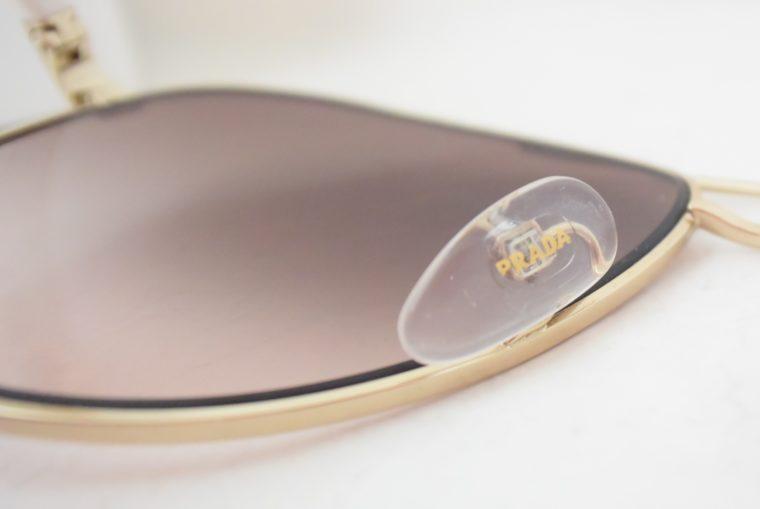Prada Sonnenbrille Pilotenbrille gold / weiß-7792