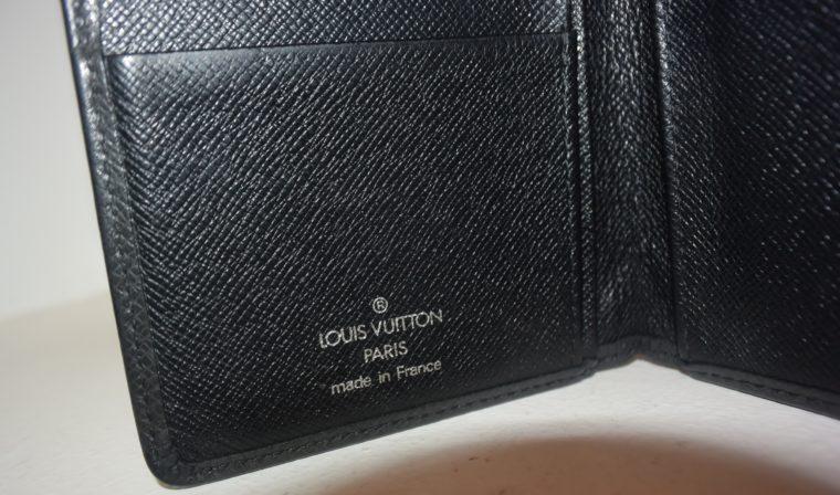 Louis Vuitton Geldbörse Taschenagenda Taigaleder schwarz-8509