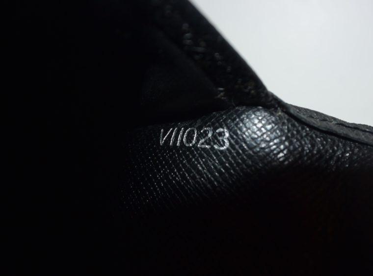 Louis Vuitton Geldbörse Taschenagenda Taigaleder schwarz-8513