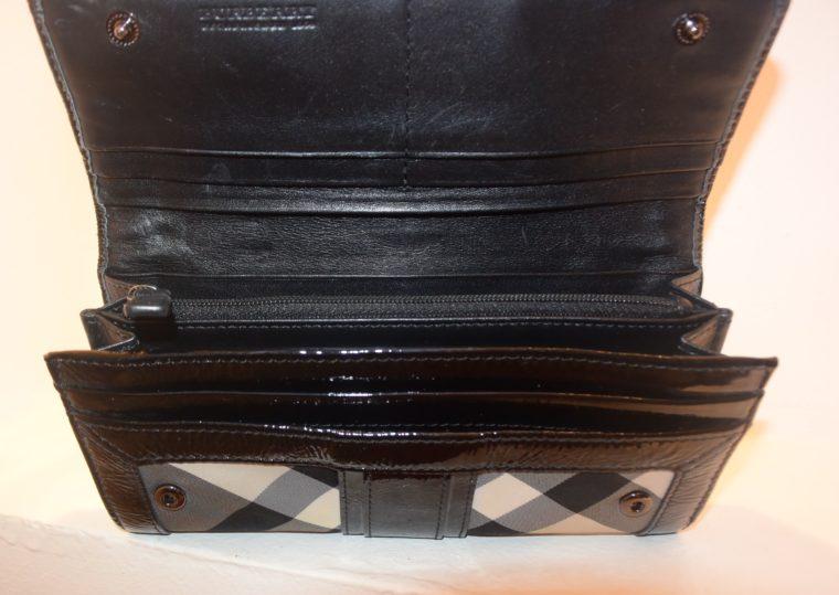 Burberry Geldbörse schwarz beige-8598