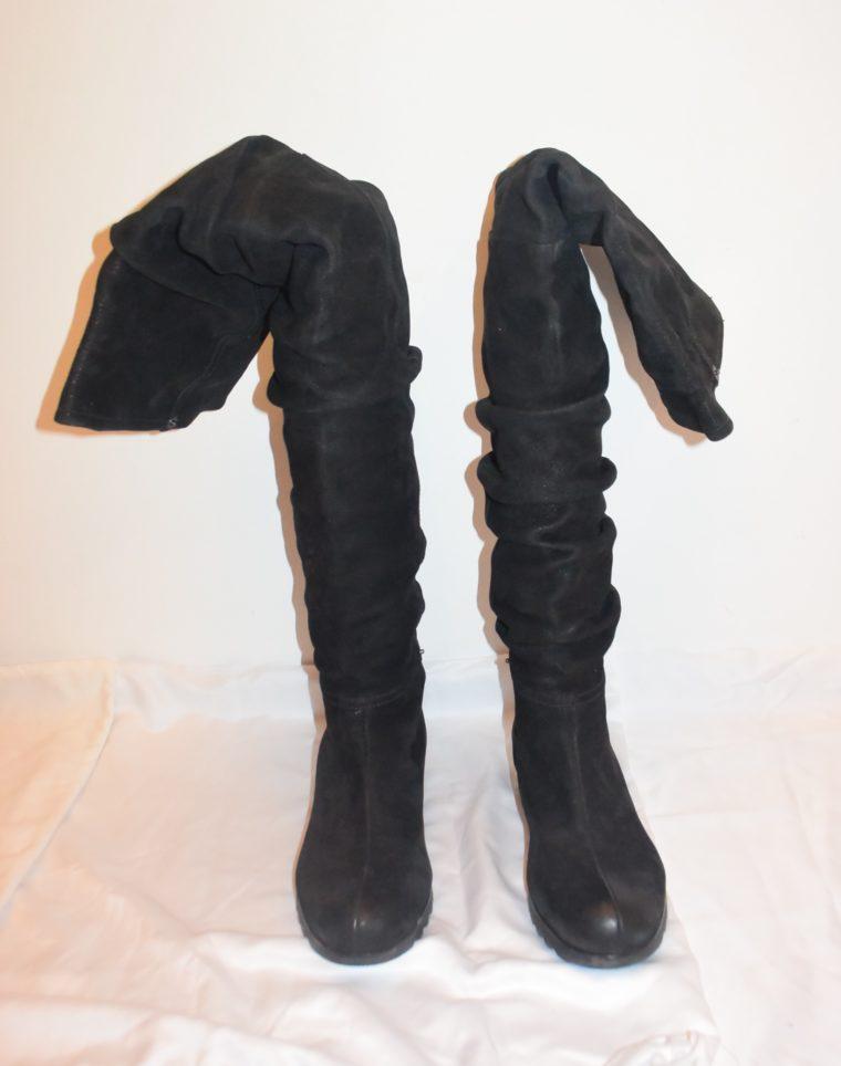 Prada Stiefel Leder hoch schwarz 36-8655