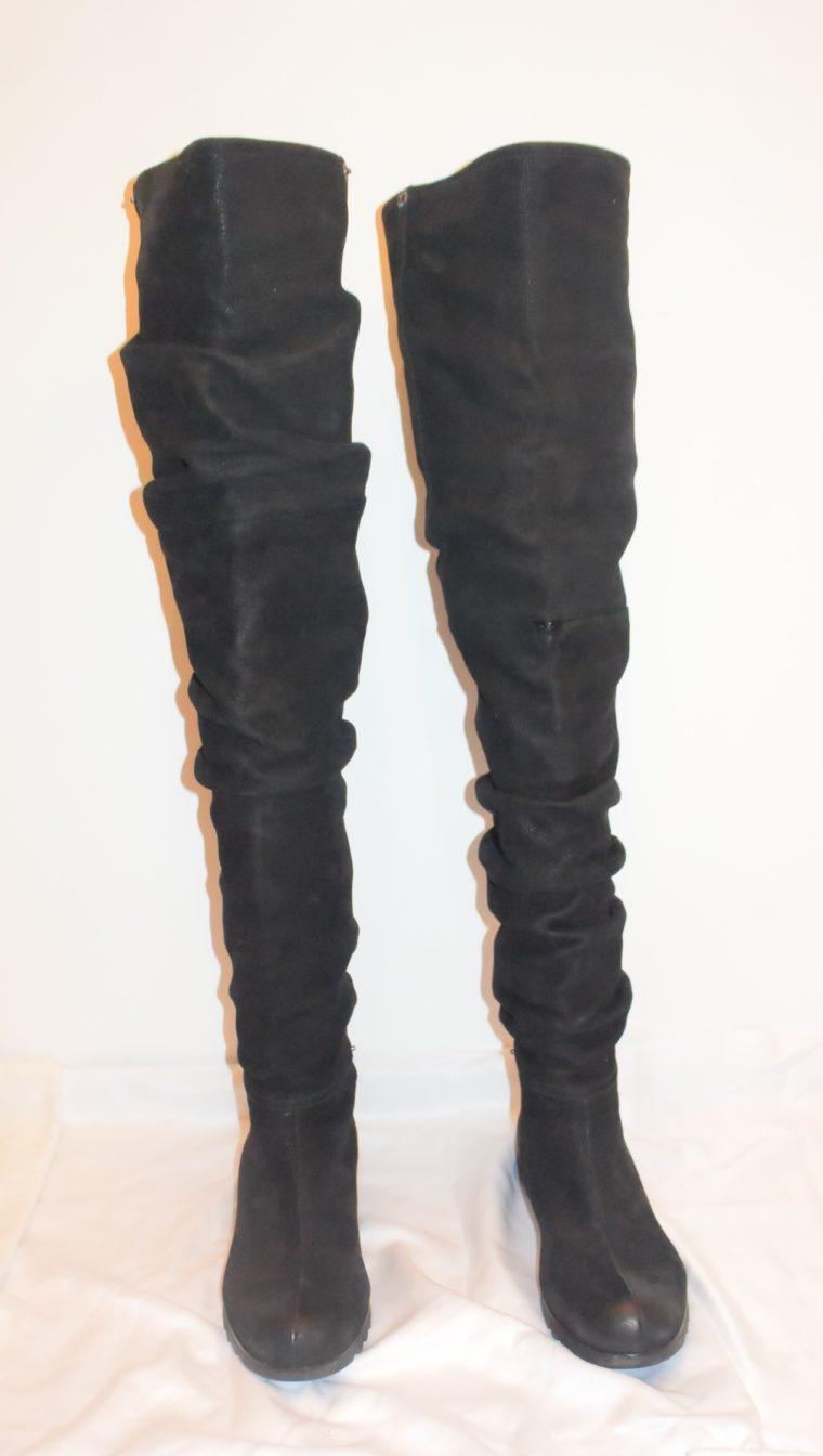 Prada Stiefel Leder hoch schwarz 36-8661