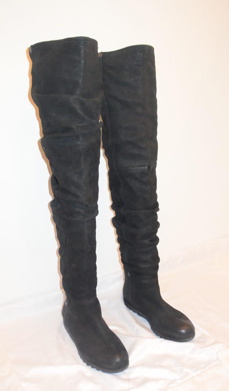 Prada Stiefel Leder hoch schwarz 36-8658