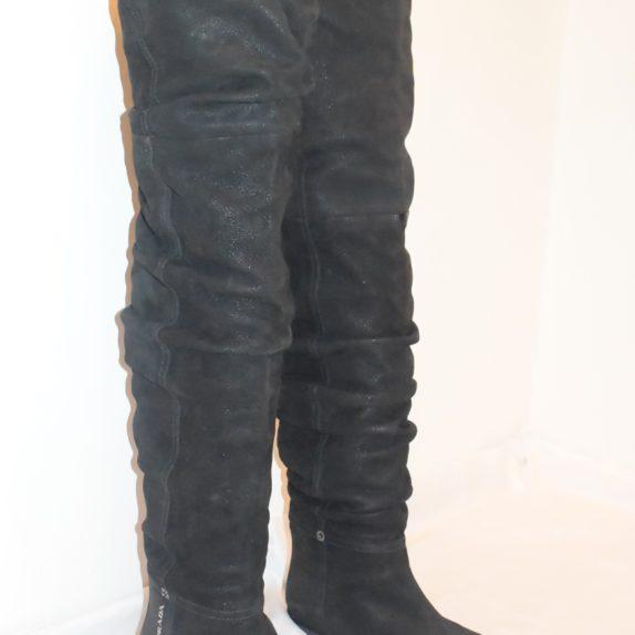 Prada Stiefel Leder hoch schwarz 36