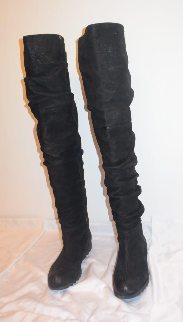 Prada Stiefel Leder hoch schwarz 36-8659