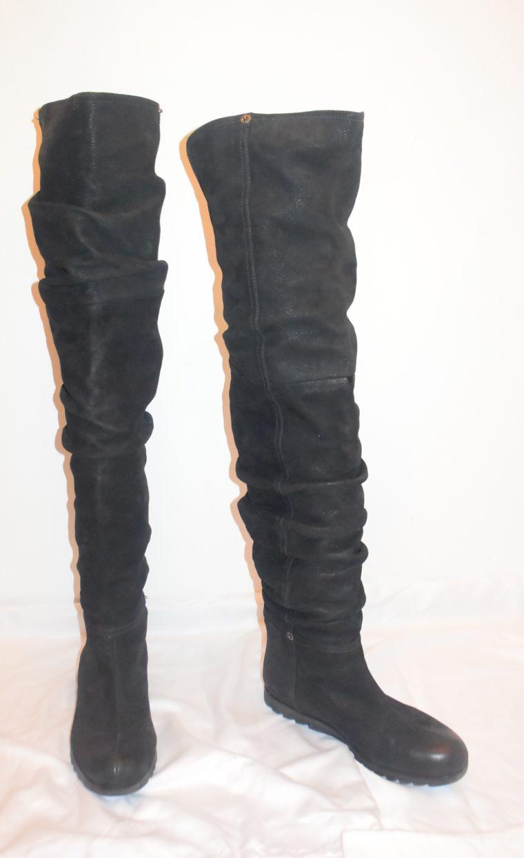 Prada Stiefel Leder hoch schwarz 36-8657