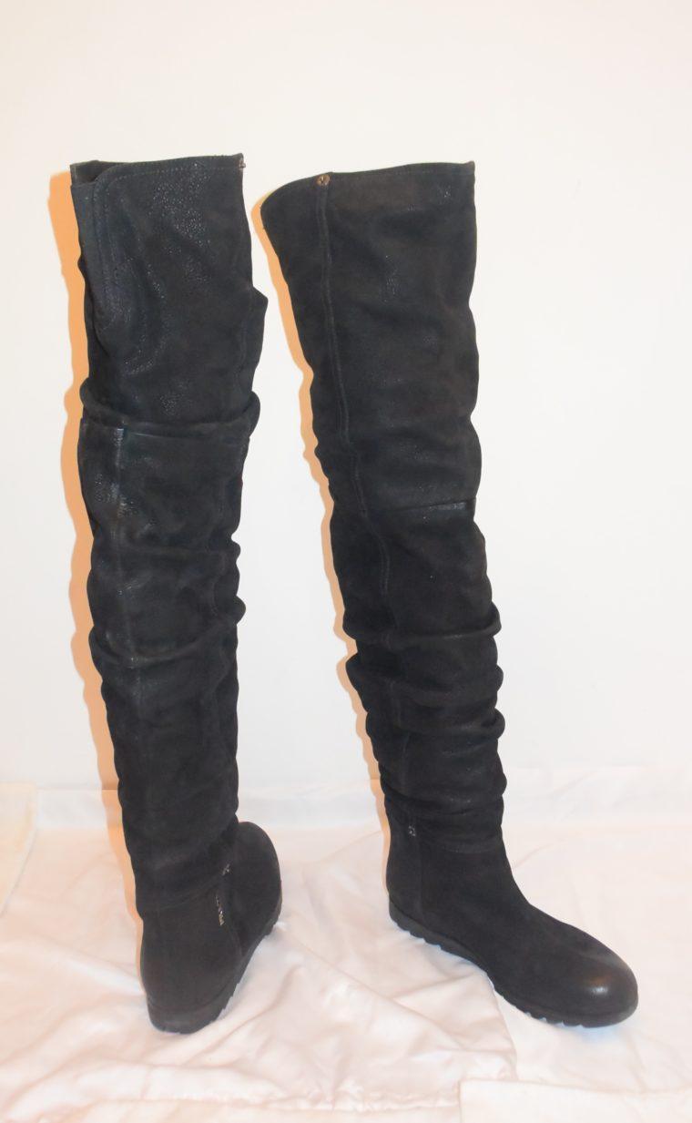 Prada Stiefel Leder hoch schwarz 36-8660