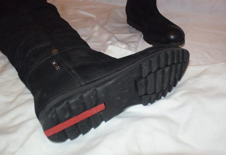 Prada Stiefel Leder hoch schwarz 36-8662