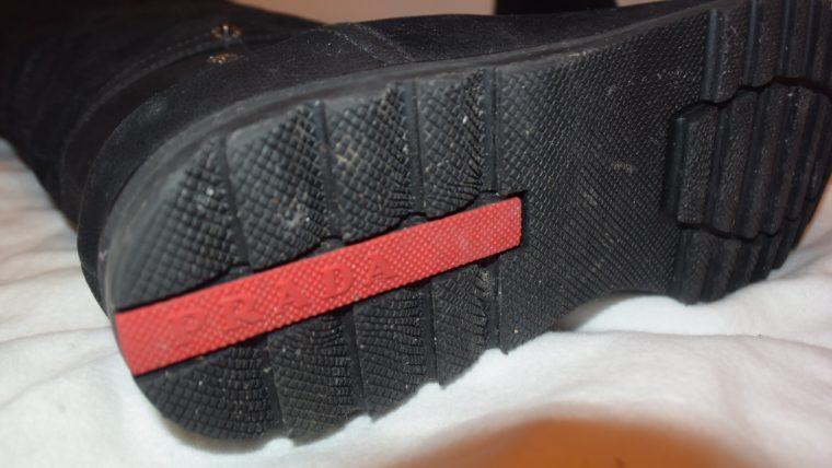 Prada Stiefel Leder hoch schwarz 36-8664