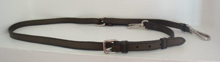 Prada Tasche Leder olive inklusive Riemen-9459