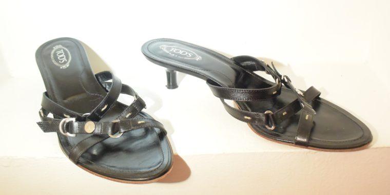 Tods Schuhe Sandalen Pumps 37 schwarz-9661