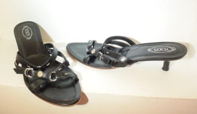 Tods Schuhe Sandalen Pumps 37 schwarz-9659