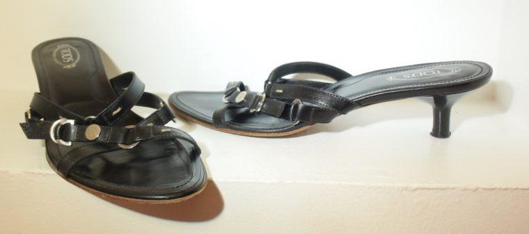 Tods Schuhe Sandalen Pumps 37 schwarz-9657