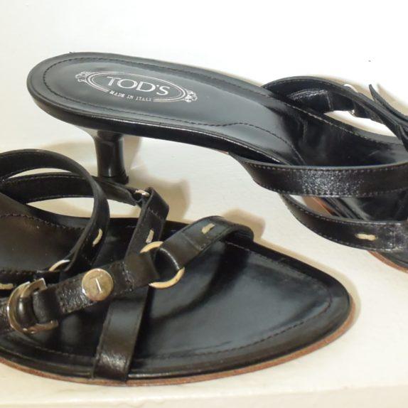 Tods Schuhe Sandalen Pumps 37 schwarz