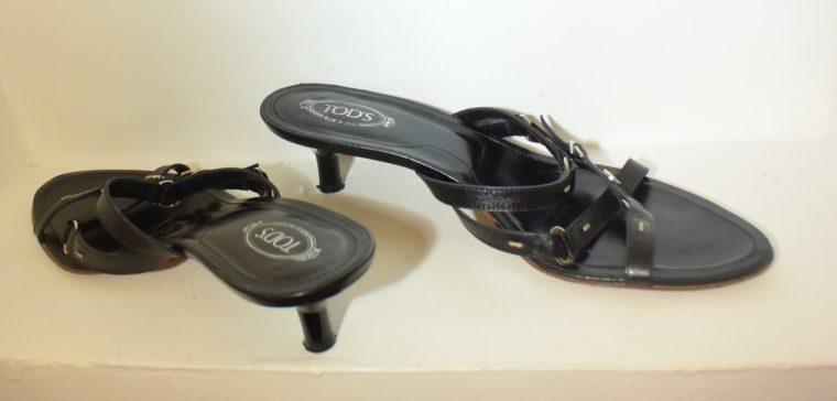 Tods Schuhe Sandalen Pumps 37 schwarz-9656