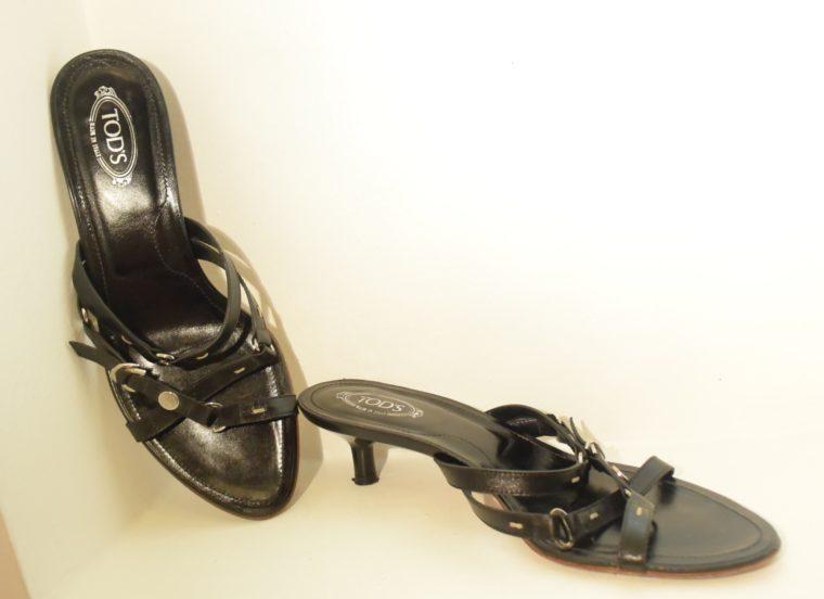 Tods Schuhe Sandalen Pumps 37 schwarz-9662