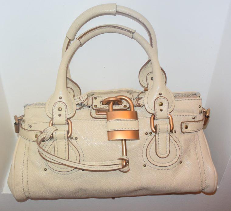 Chloe Tasche Paddington Leder beige -10782