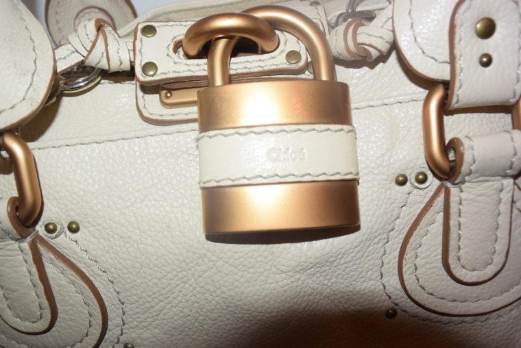 Chloe Tasche Paddington Leder beige -10779