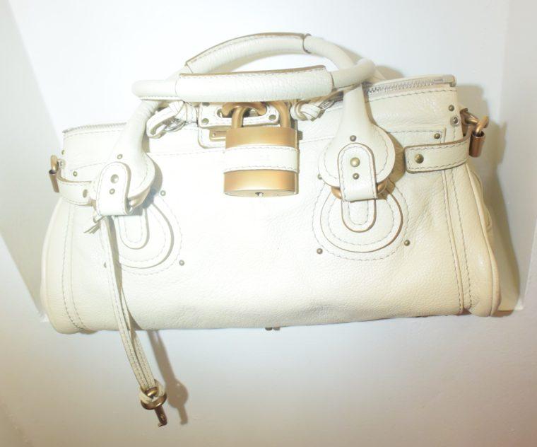 Chloe Tasche Paddington Leder beige -10783